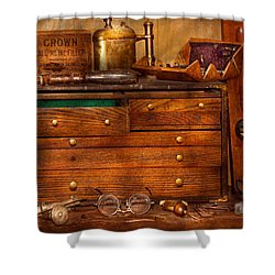 Carpentry - Tools - In My Younger Days  Shower Curtain by Mike Savad