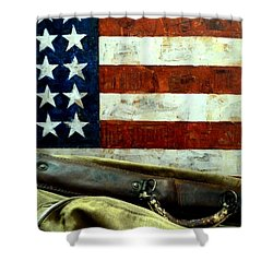 Shower Curtain featuring the photograph Carpetbagger by Newel Hunter