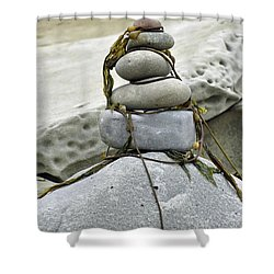 Carpinteria Stones Shower Curtain