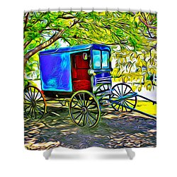 Amish Carriage Shower Curtain