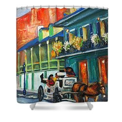 Carriage Ride On Dumaine Street Shower Curtain