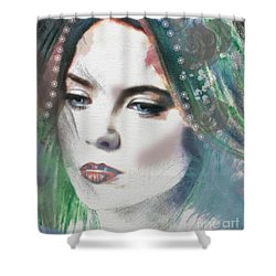 Carrie Under Veil Shower Curtain by Kim Prowse
