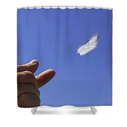 Carried On Wind Shower Curtain