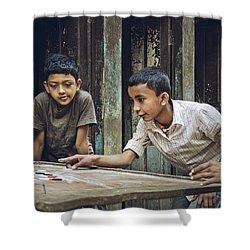 Carrom Boys Shower Curtain