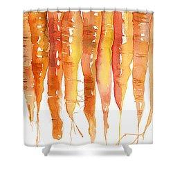 Carrot Bunch Art Blenda Studio Shower Curtain by Blenda Studio