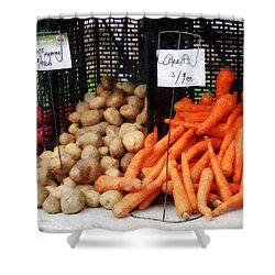 Carrots Potatoes And Honey Shower Curtain