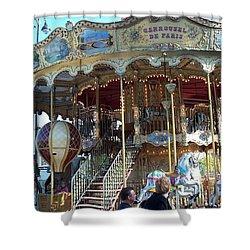Shower Curtain featuring the photograph Carrousel De Paris by Barbara McDevitt
