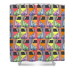 Cars Abstract  Shower Curtain by Mark Ashkenazi