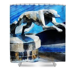 Cars - Lincoln Greyhound Hood Ornament Shower Curtain