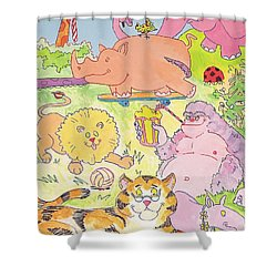Cartoon Animals Shower Curtain