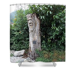 Carved Tree Shower Curtain