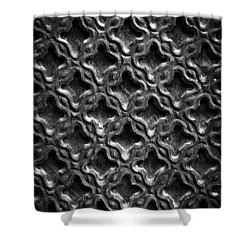 Carved Wood Texture Shower Curtain