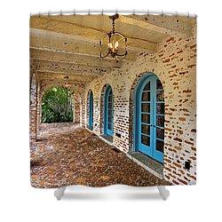 Casa De Feliz Portico Db Shower Curtain by Rich Franco