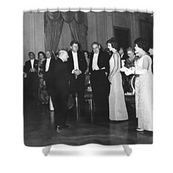 Casals White House Convert Shower Curtain by Underwood Archives