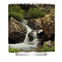 Shower Curtain featuring the photograph Cascade In Lower Ice Lake Basin by Alan Vance Ley