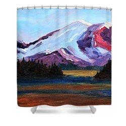 Cascade Light Shower Curtain by Nancy Merkle