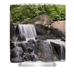 Cascade Waterfall Shower Curtain by Adam Romanowicz