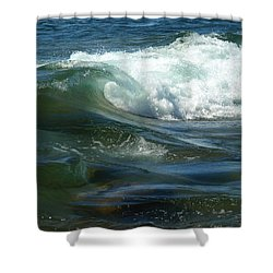 Shower Curtain featuring the photograph Cascade Wave by James Peterson