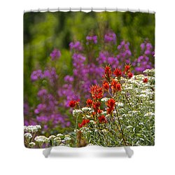 Cascade Wildflowers Shower Curtain by Sean Griffin