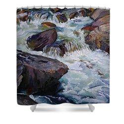 Cascades After Daniel Edmondson Shower Curtain