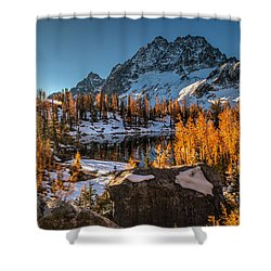 Cascades Ring Of Larches Shower Curtain by Mike Reid
