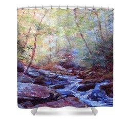 Cascading Shower Curtain by Bonnie Mason