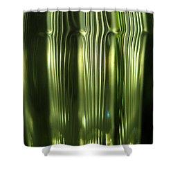Cascading Green Shower Curtain