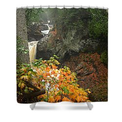 Shower Curtain featuring the photograph Cascading Steps by James Peterson