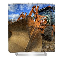 Case Backhoe Shower Curtain