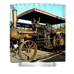 Shower Curtain featuring the photograph Case Steam Tractor by Pete Trenholm