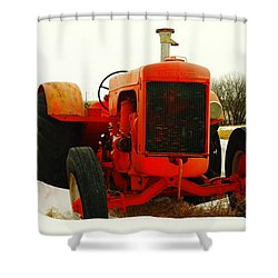 Case Tractor Shower Curtain by Jeff Swan