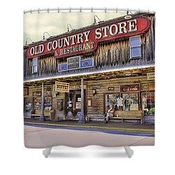Casey Jones Village Store Shower Curtain