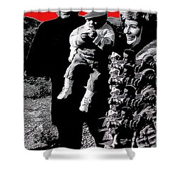 Shower Curtain featuring the photograph Cash Family In Red Old Tucson Arizona 1971-2008 by David Lee Guss