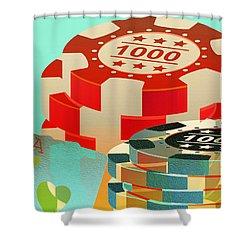 Casino Token Shower Curtain