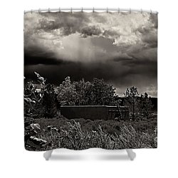 Casita In A Storm Shower Curtain