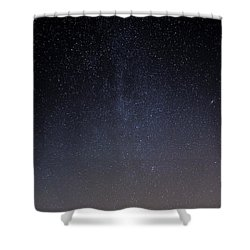 Shower Curtain featuring the photograph Cassiopeia And Andromeda Galaxy 01 by Greg Reed