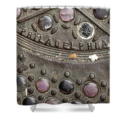 Shower Curtain featuring the photograph Cast Iron Philadelphia by Christopher Woods
