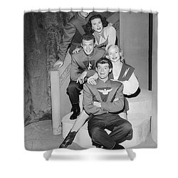 Cast Of Space Patrol Shower Curtain