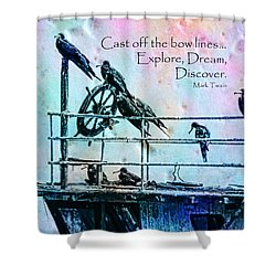 Cast Off Shower Curtain