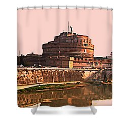 Shower Curtain featuring the photograph Castel Sant 'angelo by Brian Reaves