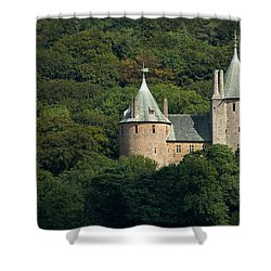 Shower Curtain featuring the photograph Castell Coch by Jeremy Voisey