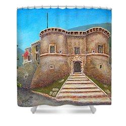 Castello Ducale Di Faicchio Shower Curtain by Pamela Allegretto