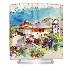 Castelo De Vide In Portugal 01 Shower Curtain by Miki De Goodaboom