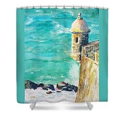 Castillo De San Cristobal Ocean Sentry  Shower Curtain