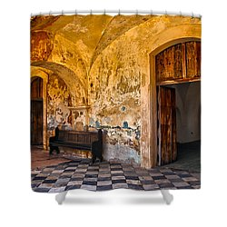 Shower Curtain featuring the photograph Castillo San Felipe Del Morro 1 by Mitch Cat