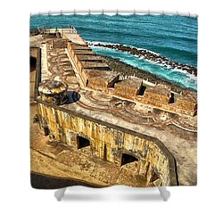 Shower Curtain featuring the photograph Castillo San Felipe Del Morro 2 by Mitch Cat