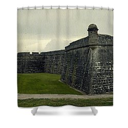 Castillo San Marcos 5 Shower Curtain by Laurie Perry