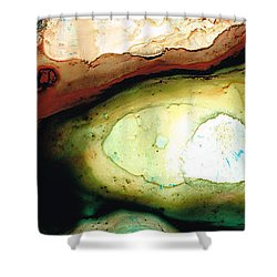 Casting Shadows - Earthy Abstract By Sharon Cummings Shower Curtain by Sharon Cummings
