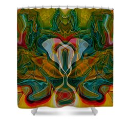 Casting Spells Shower Curtain by Omaste Witkowski