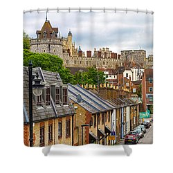 Castle Above The Town Shower Curtain